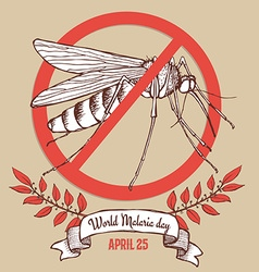 Malaria day poster vector