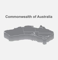 map australia isometric concept 3d flat vector image