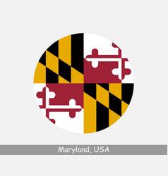 maryland round circle flag vector image