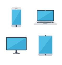 Modern gadgets icons set vector image