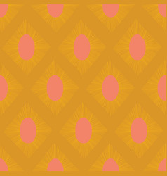 Modern ikat seamless pattern gold yellow vector