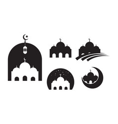 mosque moslem icon design template vector image