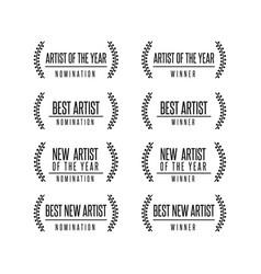 Music award nomination winner vector