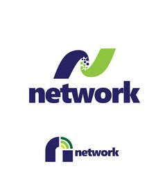 n letterbased network symbol set vector image