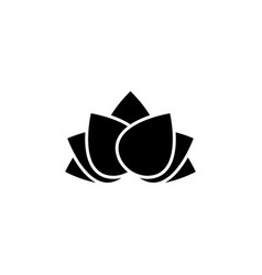new year china lotus icon can be used for web vector image
