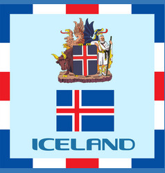 official government ensigns of iceland vector image