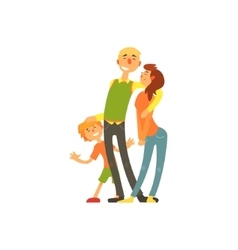 Parents and child loving Happy young family vector