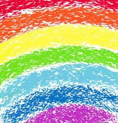 Pastel crayon painted rainbow image vector