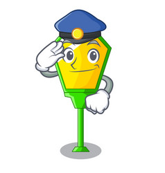 Police lamps post collection in a cartoon vector
