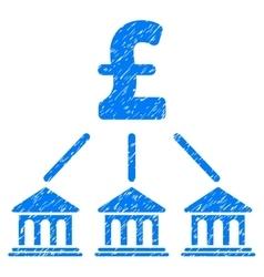 Pound Bank Organization Grainy Texture Icon vector image