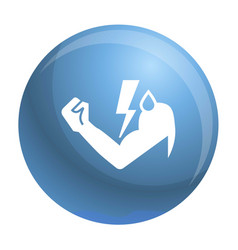 power hand bolt icon simple style vector image