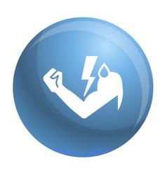 Power hand bolt icon simple style vector