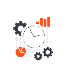 productivity efficiency performance analytics vector image