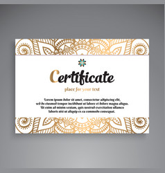 Professional certificate template design vector
