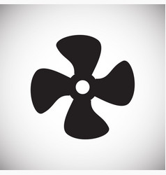 Propeller icon on background for graphic and web vector