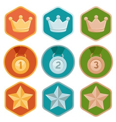 Rewards icons vector