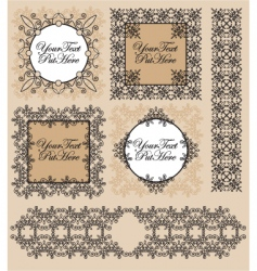 set Victorian frames and border vector image
