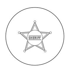 sheriff icon outline singe western icon from the vector image