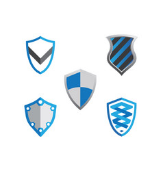 Shield symbol logo template vector