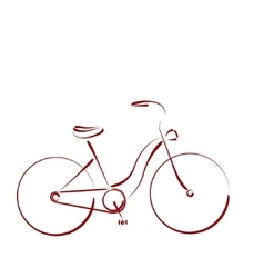 Sketched female bicycle vector