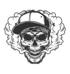 skull vaper concept vector image