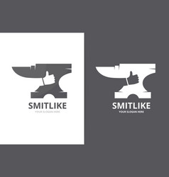 Smith and like logo combination blacksmith vector