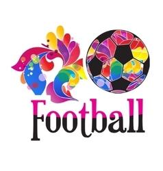 soccer ball soccer ball on white vector image