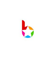 star letter b logo icon design vector image
