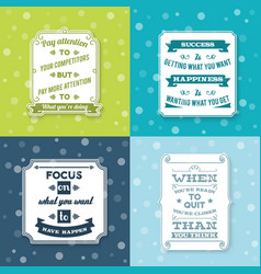 Success labels set vector image