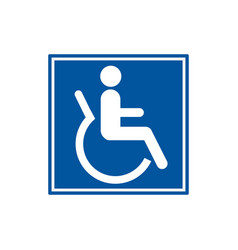 symbol for disabled people wheelchair users vector image