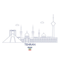 Tehran city skyline vector