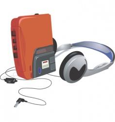 Walkman vector image