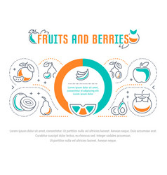 Website banner and landing page fruits and vector