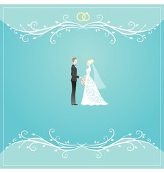 Weding background vector image