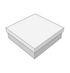 White box with place for your label vector