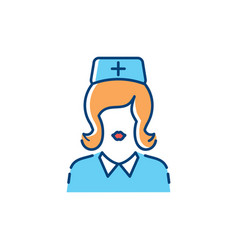 Woman doctor icon nurse icons medical assistant vector