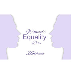 womens equality day vector image