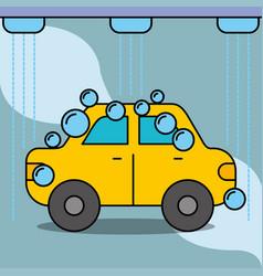 workshop car wash service maintenance vector image