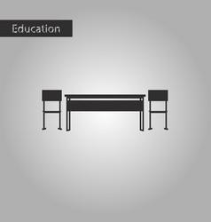 black and white style icon school desk vector image vector image