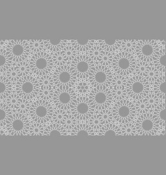 geometric arabic seamless pattern abstract vector image