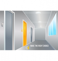 make the right choice vector image vector image