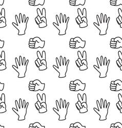 Rock-paper-scissors pattern background vector