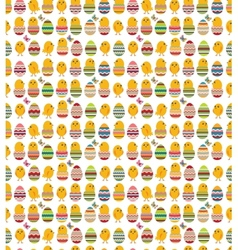 Seamless white pattern with easter eggs vector image