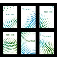 Set of colourful business cards vector image