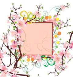 spring frame vector image vector image