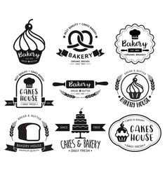 bakery shop logo vector image