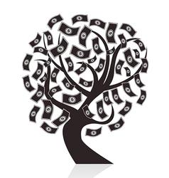 black money tree vector image