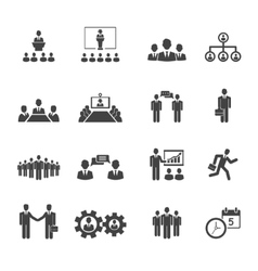 Business people meetings and conferences icons vector image vector image