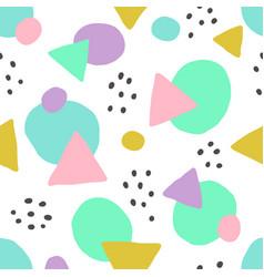 cute geometric background seamless pattern vector image