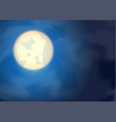 moon on night blue sky vector image